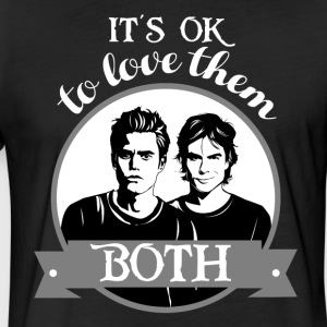 TVD. It's OK to love them both. - Fitted Cotton/Poly T-Shirt by Next Level
