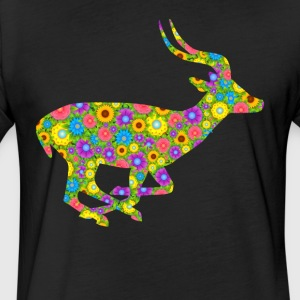 Antelope Flower Tee Shirt - Fitted Cotton/Poly T-Shirt by Next Level