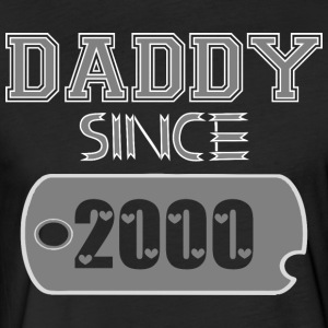 Daddy Since Tag 2000 Happy Fathers Day - Fitted Cotton/Poly T-Shirt by Next Level
