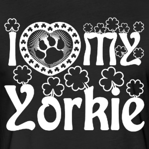 I Love My Yorkie Shirt - Fitted Cotton/Poly T-Shirt by Next Level