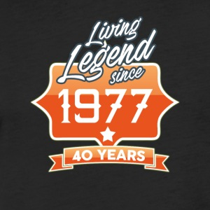 LEGEND BIRTHDAY 1977 - Fitted Cotton/Poly T-Shirt by Next Level