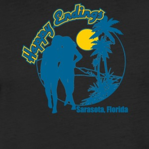 Happy Endings - Fitted Cotton/Poly T-Shirt by Next Level