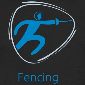Fencing_blue - Fitted Cotton/Poly T-Shirt by Next Level