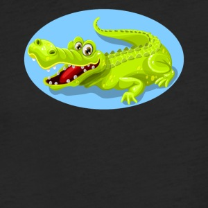 Cartoon Crocodile Vector Design - Fitted Cotton/Poly T-Shirt by Next Level
