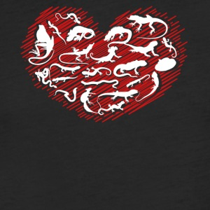 Reptile Heart Shirt - Fitted Cotton/Poly T-Shirt by Next Level