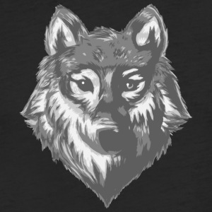 wolf sketch - Fitted Cotton/Poly T-Shirt by Next Level