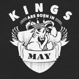 Kings are born in May - Fitted Cotton/Poly T-Shirt by Next Level
