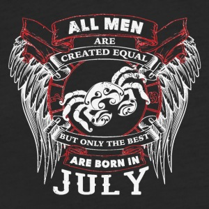 The best man are born in JulyCANCER - Fitted Cotton/Poly T-Shirt by Next Level
