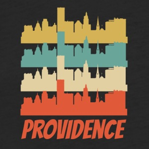 Retro Providence RI Skyline Pop Art - Fitted Cotton/Poly T-Shirt by Next Level