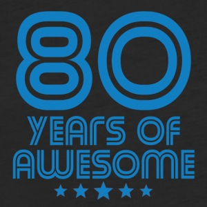 80 Years Of Awesome 80th Birthday - Fitted Cotton/Poly T-Shirt by Next Level