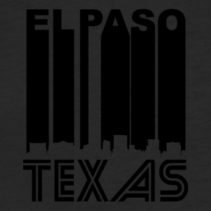 Retro El Paso Skyline - Fitted Cotton/Poly T-Shirt by Next Level