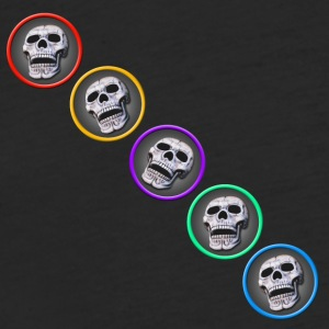 five skulls diagonal - Fitted Cotton/Poly T-Shirt by Next Level