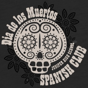 Dia de los Muertos JUNIPER HIGH SCHOOL SPANISH CLU - Fitted Cotton/Poly T-Shirt by Next Level