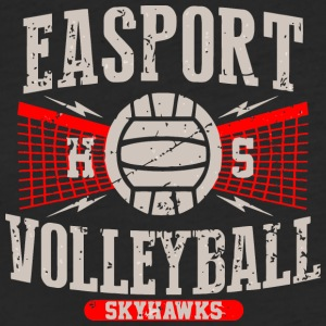Eastpoint HS Volleyball Skyhawks - Fitted Cotton/Poly T-Shirt by Next Level