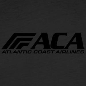 atlantic coast airlines black - Fitted Cotton/Poly T-Shirt by Next Level