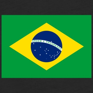 Flag of Brazil BRAZILIAN SOCCER FUTBOL - Fitted Cotton/Poly T-Shirt by Next Level