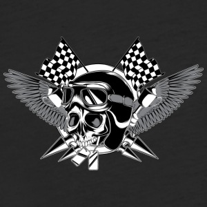 skull_racer - Fitted Cotton/Poly T-Shirt by Next Level