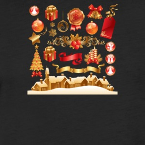 Christmas Elements 6 - Fitted Cotton/Poly T-Shirt by Next Level