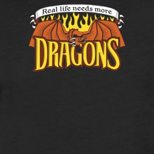 More Dragons - Fitted Cotton/Poly T-Shirt by Next Level