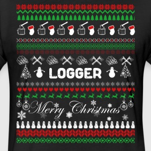 Logger Shirt - Logger Christmas Shirt - Fitted Cotton/Poly T-Shirt by Next Level