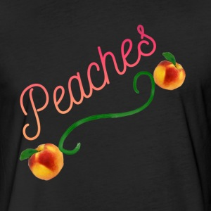 Peaches - Fitted Cotton/Poly T-Shirt by Next Level