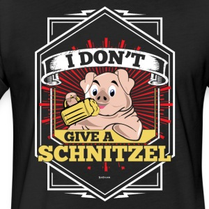 I Don't Give A Schnitzel German Beer Oktoberfest - Fitted Cotton/Poly T-Shirt by Next Level
