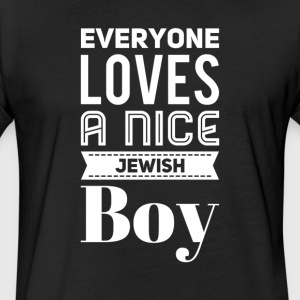 Everyone loves a nice jewish boy - Fitted Cotton/Poly T-Shirt by Next Level