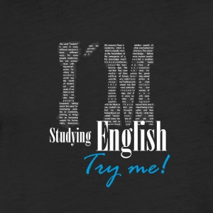I´m Studying English - Try me 1 - Fitted Cotton/Poly T-Shirt by Next Level