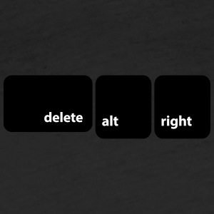 delete alt right (mac) - Fitted Cotton/Poly T-Shirt by Next Level