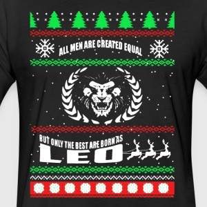 Leo Ugly Christmas Shirt - Fitted Cotton/Poly T-Shirt by Next Level