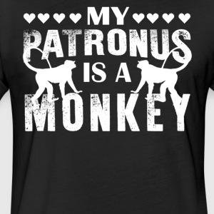 My Patronus Is A Monkey Shirts - Fitted Cotton/Poly T-Shirt by Next Level