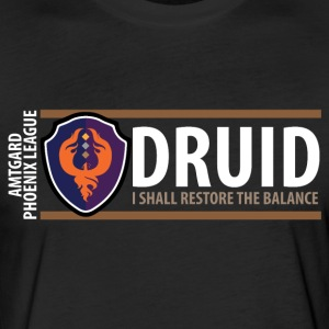 Shield Series: Druid Balance - Fitted Cotton/Poly T-Shirt by Next Level