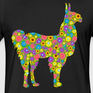 Alpaca Flower Tee Shirt - Fitted Cotton/Poly T-Shirt by Next Level