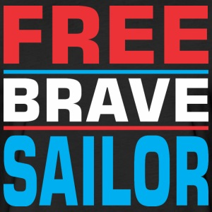 Free Brave Sailor - Fitted Cotton/Poly T-Shirt by Next Level