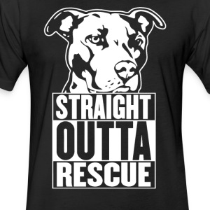 Straight Outta Rescue - Fitted Cotton/Poly T-Shirt by Next Level