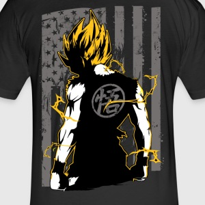 American super saiyan goku t shirt - Fitted Cotton/Poly T-Shirt by Next Level