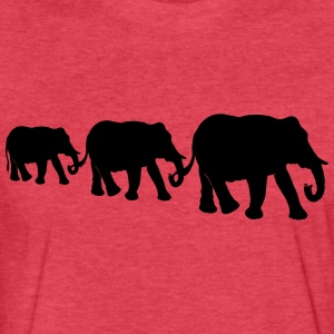 Elephant family, silhouettes. - Fitted Cotton/Poly T-Shirt by Next Level