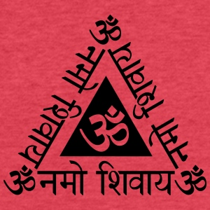Om Namah Sivaya B - Fitted Cotton/Poly T-Shirt by Next Level