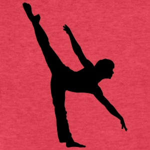 Vector Ballet dancer Silhouette - Fitted Cotton/Poly T-Shirt by Next Level
