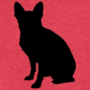 Vector dog Silhouette - Fitted Cotton/Poly T-Shirt by Next Level