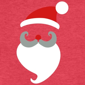 Santa_Clauss_Head - Fitted Cotton/Poly T-Shirt by Next Level