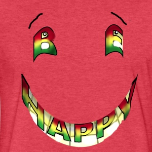 Rasta Be Happy - Fitted Cotton/Poly T-Shirt by Next Level