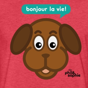 Poncho le chien - Fitted Cotton/Poly T-Shirt by Next Level