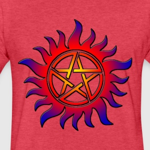 Anti Possession Symbol Sun Fire - Fitted Cotton/Poly T-Shirt by Next Level