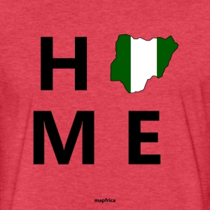 Nigeria Home Flag Map - Fitted Cotton/Poly T-Shirt by Next Level