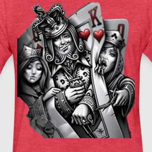 card poker - Fitted Cotton/Poly T-Shirt by Next Level