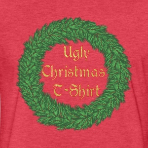 The Ugly Christmas T-Shirt Wreath - Fitted Cotton/Poly T-Shirt by Next Level