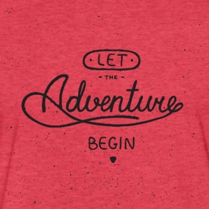 let the adventure begin - Fitted Cotton/Poly T-Shirt by Next Level