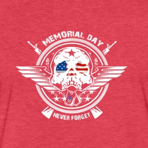 USA Memorial Day Never Forget - Fitted Cotton/Poly T-Shirt by Next Level