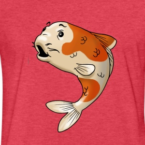 pisces fish goldfish koi - Fitted Cotton/Poly T-Shirt by Next Level